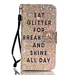 Bling Pattern Magnetic Leather Stand Full Body Case with Lanyard for iPhone SE / 5 / 5S
