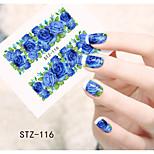 1pcs  Water Transfer Nail Art Stickers  Colorful Flower Nail Art Design STZ116-120
