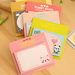 Animal Head Pattern Self-Stick Notes(1 PCS Random Color)