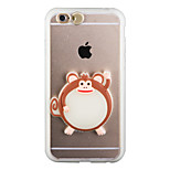 Glow in the Dark Lucky Monkey PC Back Case with Strap and Stand for iphone6/6s