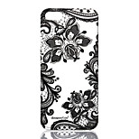 dpt® Lace Flower Butterfly Pattern TPU Soft Back Cover for iPhone 5S/5