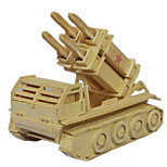 3D Puzzles Puzzle Mixed Batch Of Diy Wooden Educational Toys Three-Dimensional Simulation Model Patriot Missile Puzzles