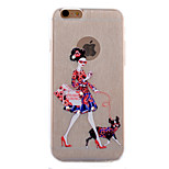 Satchel Girl Diamond Glitter Slim TPU Material Phone Case for iPhone 6/6S