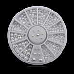 1wheel white pearls nail decorations-Bijoux pour ongles-Doigt- enAdorable-6cm wheel