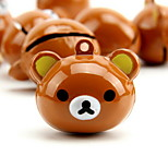 Rilakkuma Cartoon Pure Copper Pet Pendant Bell(1 PCS 3cm)