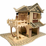 3D Puzzles  Wooden Three-Dimensional Puzzle Teahouse Children'S Educational Toys Porch Teahouse China'S Style