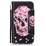 EFORCASE® Petals Skull Painted Lanyard PU Phone Case for iphone6S plus/6plus/6S/6