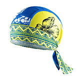 CHEJI Flower Bike Bicycle Biker Cycle Fitted Bandana Durag Headwrap Scarf Sweat Proof