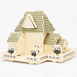 Happiness Hut Wood 3D Puzzles Diy Toys