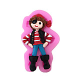 Cartoon Girl Style Sugar Candy Fondant Cake Molds  For The Kitchen Baking Molds