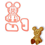 Cartoon Mouse  Shape Tools Cake Mold Cookie Cutters Three-dimensional Animal Cake mould (Random Color)