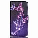 Cross Pattern PU Leather Wallet Case for Acer Liquid Z330 Z320 M320 M330 - Colorized Butterflies