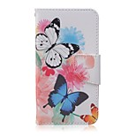 Butterfly Painted PU Phone Case for Huawei Y560