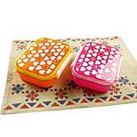 Heart Small Single Tier Plastic Sushi Box Lunch Box (Random Color)