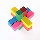 Fashion DIY Two-layer Wood Intelligence Cubes