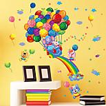 Rainbow Balloon Elephant Cartoon Animals Wall Stickers