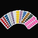 5-Autocollants 3D pour ongles / Paillettes-Doigt- enAdorable / Mariage-14.5*7.5