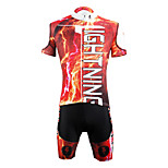 PaladinSport Men 's Cycyling Jersey + Shorts Bike Suits for DT624   thunderstorms