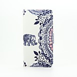 Elephant Painted PU Phone Case for Huawei Ascend P9 Lite