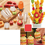 6 in 1Pop Chef Fruit Mould Tools Carve patterns Tools Fruit Cake Shape Maker