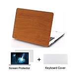 Wood Grain Design Matte Full Body Case with Keyboard Cover and Screen Protector for Macbook  Air 11
