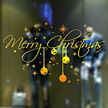 Christmas Wall Stickers Romance Wall Stickers Holiday / Shapes Wall Stickers Plane Wall Stickers,vinyl 58*32cm