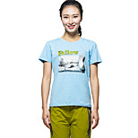 KORAMAN Women's Summer Short Sleeve T-shirt Printing Breathable Quick-dry