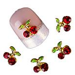 10 Pcs Cherry 3D Art Tools Stones Crystal Rhinestone For Nails Alloy Decorations Nail Art Glitters DIY