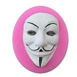 Mask Shaped Silicone Fondant Cake Cake Chocolate Silicone Molds,Decoration Tools Bakeware