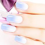 Ekbas Blue and White Color Gradient Nail Glue 16ML Nail Polish