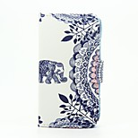 Elephant Pattern Wallet Leather Stand Cover Case for Wiko Sunset2