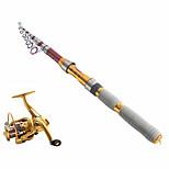 Телескопическое удилище Рыболовные удочки + Катушки для спиннинга Удочка Телескопическое удилище Углерод 290 M Морское рыболовство