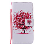 Red Tree Lanyard Painted PU Phone Case for Huawei P9/P9lite