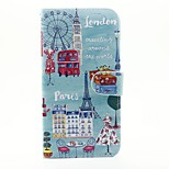 City View Pattern PU Leather Full Body Case with Stand and Card Slot for iPhone 6s Plus 6 Plus 6s 6 SE 5s 5