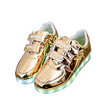Boys' LED Shoes Outdoor / Athletic / Casual Leatherette Sandals / Fashion Sneakers Silver / Gold