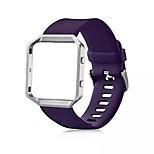 classic silicone vervangende band met metalen frame case voor Fitbit blaze grote (6,7-8,1 in)