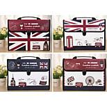 Multifunction Portable Files Folders & Filing for Office UK Flag
