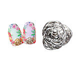 Lovely Mental Miniature Roses Nail Jewelry (5Pcs)