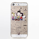 Snoopy Family TPU Soft Back Case for iPhone 5/5S/SE