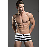 The New Men's Boxer Swim Trunks Swimming Trunks Sexy Stripes