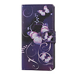 Purple Butterfly Magnetic PU Leather wallet Flip Stand Case cover for LG K5 X220