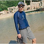 Men Diving Suit UV Swimsuit Conjoined Sun-protective Swimwear Jellyfish Garments Long-sleeve Wetsuit Suits=Top+Pants