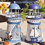 The Mediterranean Lighthouse Candlestick Candleholder Candle Stand Light Holder Lantern Home Decoration(Random Color)