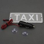 ZIQIAO 12v Cigarette Lighter Socket Suction LED Taxi Sign Light Taxi Cab Top Lamp Taxi Indicator License Plate Lighting