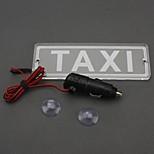 ziqiao 12v de sucção isqueiro levou táxi assinar luz táxi de táxi de iluminação da placa de licença indicador superior da lâmpada de táxi