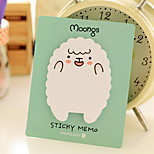 Sheet and Bear Pattern Self-Stick Note(1 PCS Random Color)