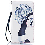 Girl Pattern PU Leather Full Body Case with Stand for Huawei Ascend P9 Lite