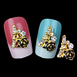 Lovely Mental Rose  Nail Jewelry (5 PCS)
