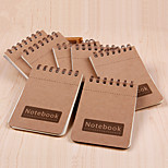 1PC Small Kraft Paper On The Coil Notebook(Style random)