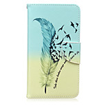 Feather Pattern Card Phone Holster For Huawei Honor 5X/Ascend P9/Ascend P9 Lite